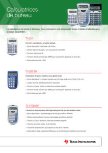 Texas Instruments Calculatrices 2020 (16 pages)